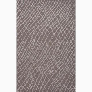 Handmade Gray Wool/ Art Silk Te x tured Rug (9 x 12)