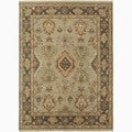 Handmade Oriental Pattern Gray/ Brown Wool Rug (2 x 3)