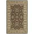 'Lawrence' Brown Kashan Hand-tufted Traditional Wool Rug (5' x 7'9)