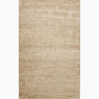 Handmade Ivory/ White Eco-friendly Flat-weave Hemp Rug (8 x 10)