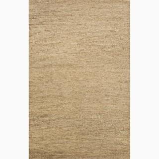 Handmade Ivory/ White Hemp Eco-friendly Rug (3'6 x 5'6)