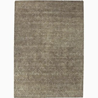 Handmade Abstract Pattern Ashwood Wool Rug (9 x 12)