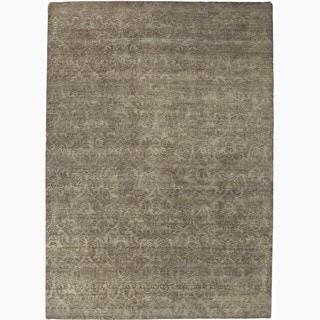 Handmade Abstract Pattern Ashwood Wool Rug (6 x 9)
