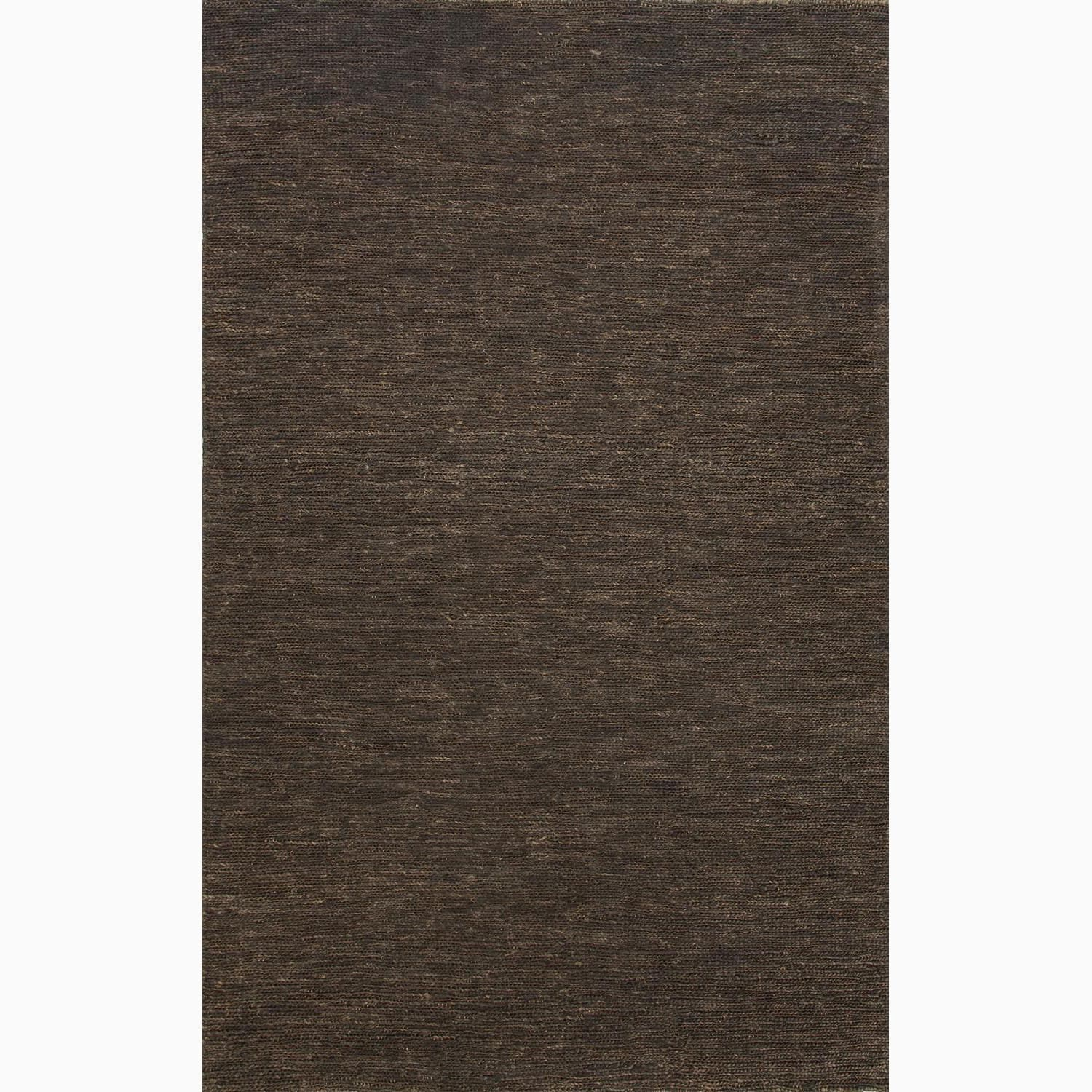 Handmade Solid Pattern Brown Hemp Rug (8 x 10)