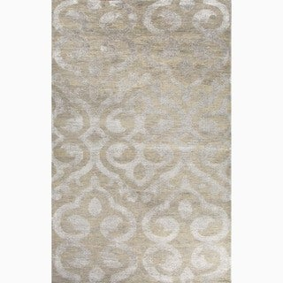 Handmade Gray Wool/ Art Silk Te x tured Rug (8 x 11)