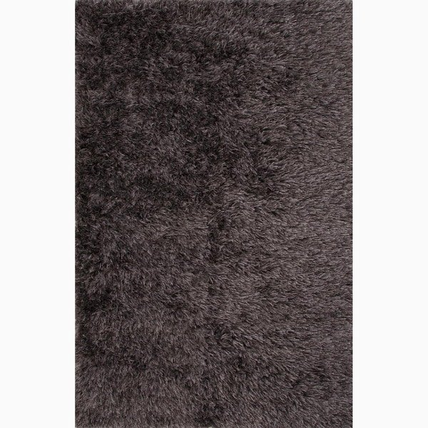Handmade Gray Polyester Te x tured Rug (2 x 3)