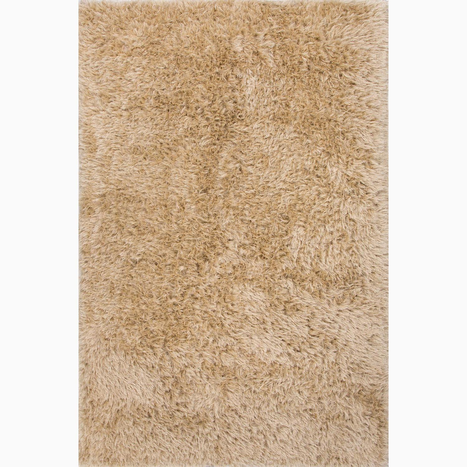 Handmade Solid Pattern Ivory/ White Polyester Rug (9 x 12)