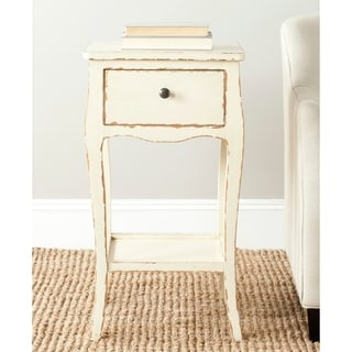 Thelma Distressed Vanilla End Table