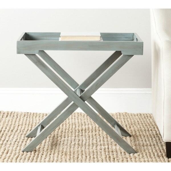 Safavieh Leo Steel Blue Accent Table