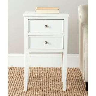 Toby White End Table