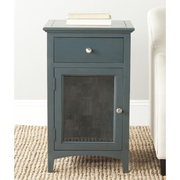 Safavieh ziva dark teal end table 15848663 overstock for 10 spring street hinsdale side table