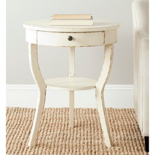 Safavieh Kendra Distressed Vanilla End Table