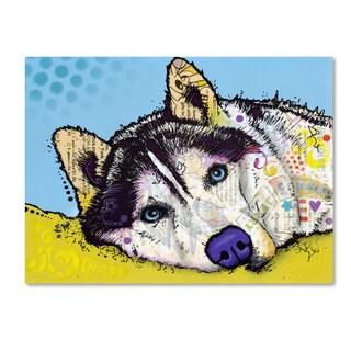 Dean Russo 'Siberian Husky II' Canvas art