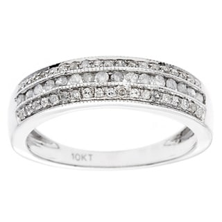 10k White Gold 1/2ct Pave Diamond Band (G-H, I1-I2)