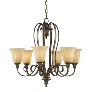 Somerset 6-light British Bronze Chandelier