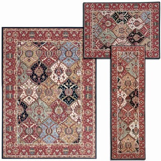 Assorted Diamonds Collection Multicolor Rug 3pc Set by Nourison (2'2 x 7'3) (3'11 x 5'3) (5'3 x 7'3)