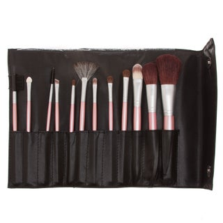Fortuna Spa 12-piece Professional Pink Handle Brush Set