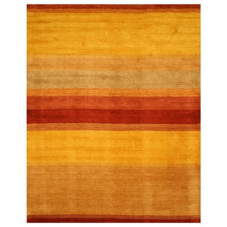 Handmade Yellow Wool Gabbeh Rug (8' x 10')