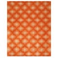 Hand-tufted Orange Wool Paris Rug (7'9 x 9'9)