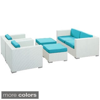 Malibu Outdoor Wicker 5-piece Patio Sofa Set