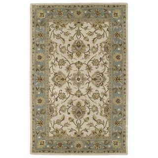 Hand-tufted Lawrence Beige Kashan Wool Rug (5'0 x 7'9)