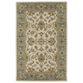Hand-tufted Lawrence Beige Kashan Wool Rug (8'0 x 11'0)
