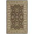 Hand-tufted Lawrence Brown Kashan Wool Rug (7'6 x 9'0)