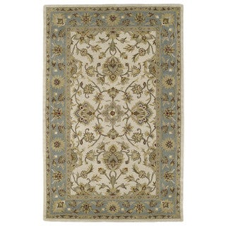 Hand-tufted Lawrence Beige Kashan Wool Rug (9'6 x 13'0)