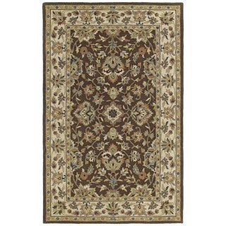 Hand-tufted Lawrence Brown Kashan Wool Rug (3'0 x 5'0)