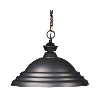 Z-Lite 1-light Stepped Olde Bronze Pendant Light