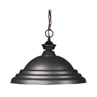Z-Lite 1-light Stepped Olde Bronze Pendant Light
