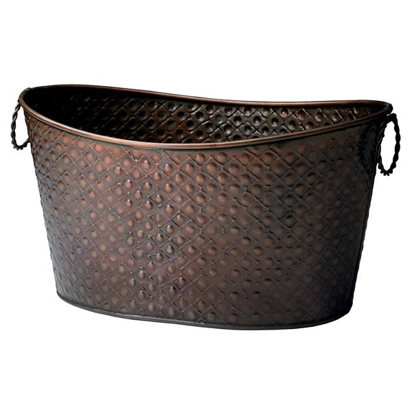 Copper Relief Oval Tub