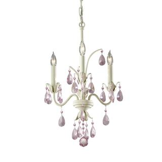 Charlene 3-light Ivory White Chandelier