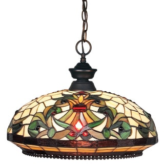 Z-Lite 1-light Olde-bronze Glass Pendant Light