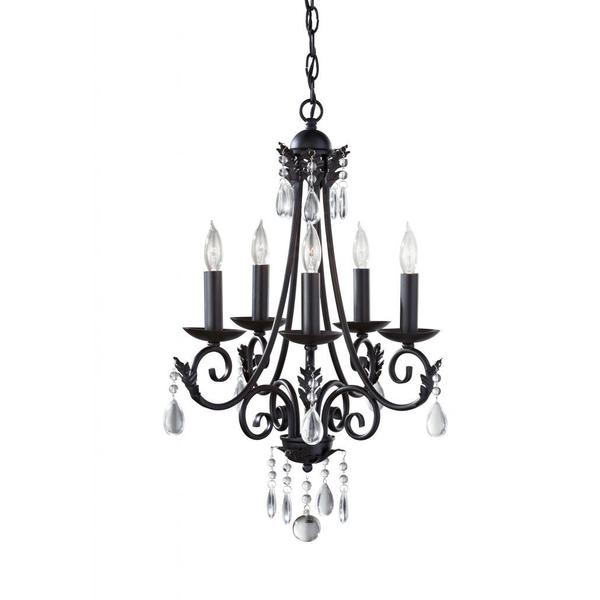 Nadia 5-light Black Chandelier