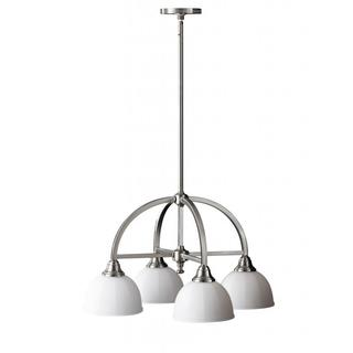 Perry 4-light Brushed Steel Chandelier
