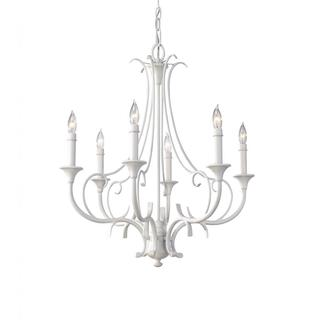 Peyton 6-light Saltspray White Chandelier