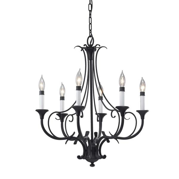 Peyton 6-light Black Chandelier