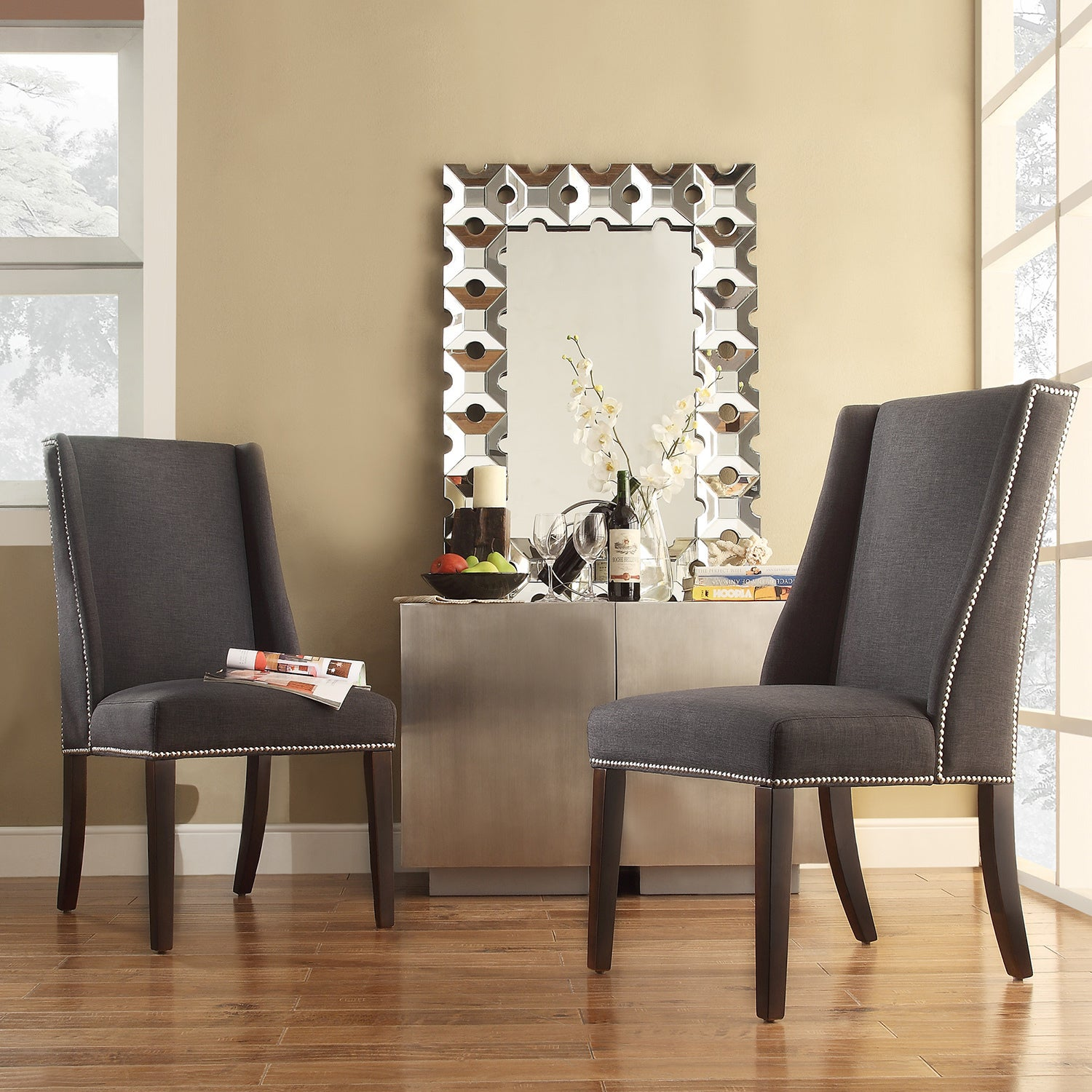 Set Of 2) Overstock Shopping Great Deals On INSPIRE Q Dining. Full resolution‎  photograph, nominally Width 1500 Height 1500 pixels, photograph with #A13D2A.