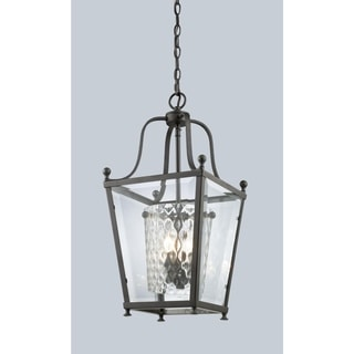 Z-Lite Bronze Transitional Caged 4-light Pendant