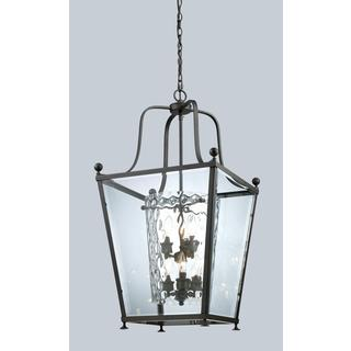Z-Lite Bronze Transitional Caged 6-light Pendant