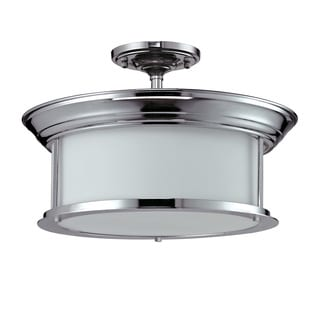 Z-Lite 3-light Chrome-finish Semi-flush Mount
