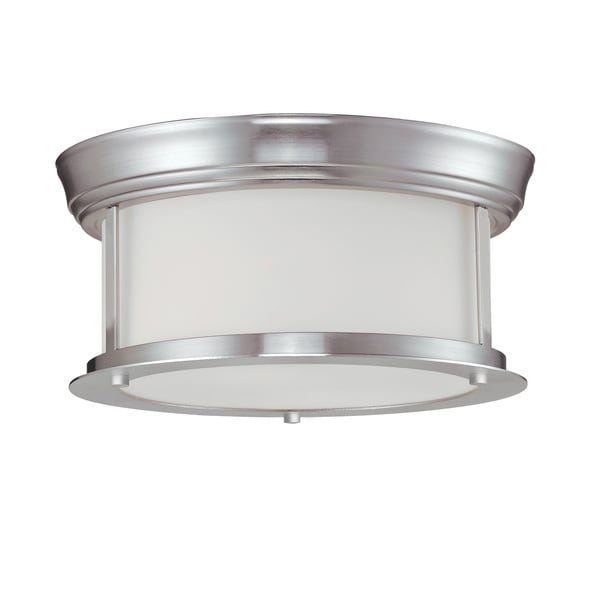 Z-Lite 2-light Ceiling Lamp in Brushed Nickel
