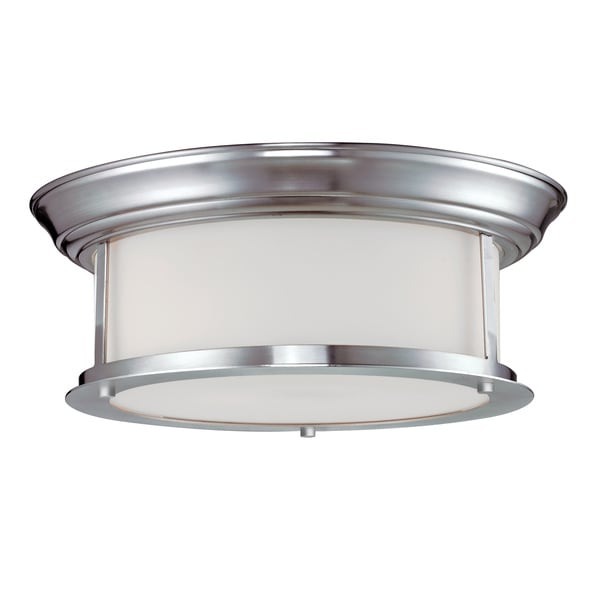 Z-Lite 2-light Ceiling Lamp with Glass Shade