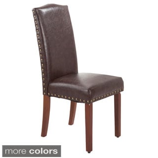 Faux Leather Nail Head Parson Chairs (Set of 2)
