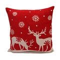 Red/ Cream Down Filled Decorative Holiday Throw Pillows