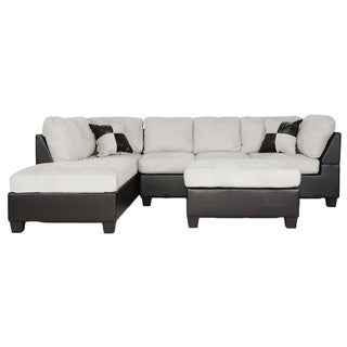 Mancini Modern Sectional Sofa Set with Bonus Laptop Tray Table