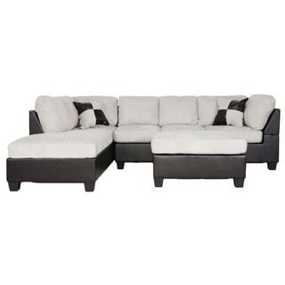 Mancini Modern Sectional Sofa Set with Bonus Laptop Tray