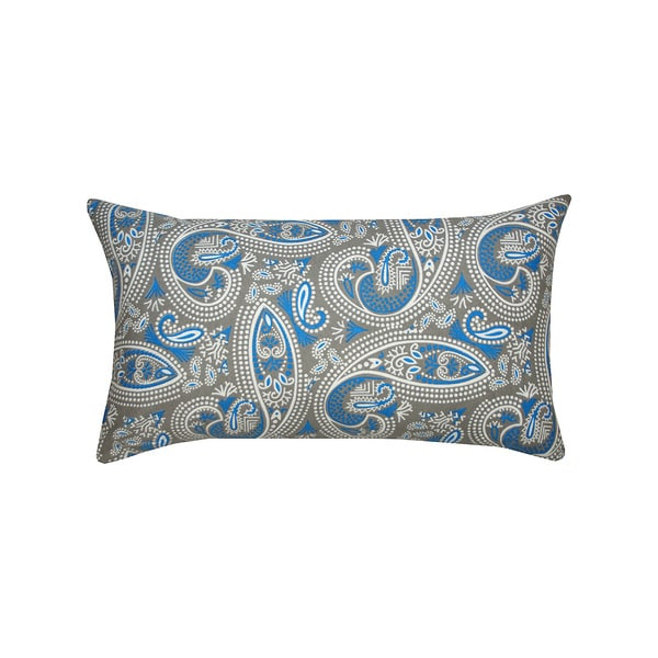 14 x 14-inch Blue and Grey Muted Paisley Print Accent Pillow (India) - Overstock Shopping - The ...