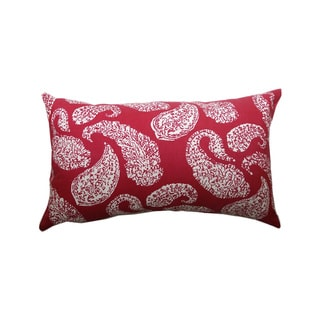14 x 24-inch Plum Petite Paisley Throw Pillow (India)